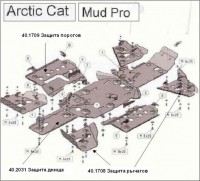 Защита днища  для Arctic Cat Mud Pro 2011 - - Интернет магазин запчастей Volvo и Land Rover,  продажа запасных частей DISCOVERY, DEFENDER, RANGE ROVER, RANGE ROVER SPORT, FREELANDER, VOLVO XC90, VOLVO S60, VOLVO XC70, Volvo S40 в Екатеринбурге.