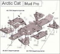 """Защита рычагов (передних и задних) для Arctic Cat Mud Pro 2011 - (срок поставки """"под заказ"""" от 14 до 30 дней) - Интернет магазин запчастей Volvo и Land Rover,  продажа запасных частей DISCOVERY, DEFENDER, RANGE ROVER, RANGE ROVER SPORT, FREELANDER, VOLVO XC90, VOLVO S60, VOLVO XC70, Volvo S40 в Екатеринбурге."""
