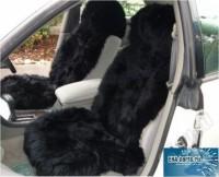 Комплект из двух натуральных меховых черных накидок (овчина)  длинный ворс по всей площади (срок поставки под заказ от 1 до 3 дней)  - Интернет магазин запчастей Volvo и Land Rover,  продажа запасных частей DISCOVERY, DEFENDER, RANGE ROVER, RANGE ROVER SPORT, FREELANDER, VOLVO XC90, VOLVO S60, VOLVO XC70, Volvo S40 в Екатеринбурге.
