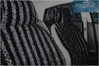 """Комплект накидок универсальных на передние сиденья авто из искусственного меха (2 шт + 2 подголовника) """"Черный каракуль"""" - Интернет магазин запчастей Volvo и Land Rover,  продажа запасных частей DISCOVERY, DEFENDER, RANGE ROVER, RANGE ROVER SPORT, FREELANDER, VOLVO XC90, VOLVO S60, VOLVO XC70, Volvo S40 в Екатеринбурге."""