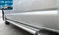 Пороги алюминиевые (Brillant) Ford Ranger (2012-) (серебр) - Интернет магазин запчастей Volvo и Land Rover,  продажа запасных частей DISCOVERY, DEFENDER, RANGE ROVER, RANGE ROVER SPORT, FREELANDER, VOLVO XC90, VOLVO S60, VOLVO XC70, Volvo S40 в Екатеринбурге.
