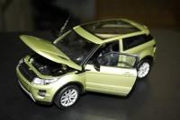 Моделька Range Rover Evoque зеленый 1*24 - Интернет магазин запчастей Volvo и Land Rover,  продажа запасных частей DISCOVERY, DEFENDER, RANGE ROVER, RANGE ROVER SPORT, FREELANDER, VOLVO XC90, VOLVO S60, VOLVO XC70, Volvo S40 в Екатеринбурге.