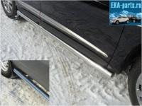 Пороги труба 76,1 мм для Infiniti JX 35 2013 - Интернет магазин запчастей Volvo и Land Rover,  продажа запасных частей DISCOVERY, DEFENDER, RANGE ROVER, RANGE ROVER SPORT, FREELANDER, VOLVO XC90, VOLVO S60, VOLVO XC70, Volvo S40 в Екатеринбурге.