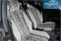 """Комплект накидок универсальных на передние сиденья авто из искусственного меха (2 шт + 2 подголовника) """"Серая кошка комбинированная с серой нерпой"""" - Интернет магазин запчастей Volvo и Land Rover,  продажа запасных частей DISCOVERY, DEFENDER, RANGE ROVER, RANGE ROVER SPORT, FREELANDER, VOLVO XC90, VOLVO S60, VOLVO XC70, Volvo S40 в Екатеринбурге."""