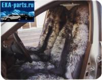 Комплект из двух накидок меховых натуральных серо-белого цвета  (овчина) в середине стриженная серая, по краям - длинный ворс серо-белого цвета (срок поставки под заказ от 1 до 3 дней) - Интернет магазин запчастей Volvo и Land Rover,  продажа запасных частей DISCOVERY, DEFENDER, RANGE ROVER, RANGE ROVER SPORT, FREELANDER, VOLVO XC90, VOLVO S60, VOLVO XC70, Volvo S40 в Екатеринбурге.