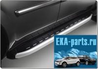 Пороги алюминиевые (Alyans) Mazda BT50 (2006-2011)/ Ford Ranger (2006-2012) - Интернет магазин запчастей Volvo и Land Rover,  продажа запасных частей DISCOVERY, DEFENDER, RANGE ROVER, RANGE ROVER SPORT, FREELANDER, VOLVO XC90, VOLVO S60, VOLVO XC70, Volvo S40 в Екатеринбурге.