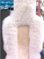 Комплект из двух накидок меховых натуральных молочно-бежевого  цвета (овчина) в середине стриженная, по краям - длинный ворс (срок поставки под заказ от 1 до 3 дней) - Интернет магазин запчастей Volvo и Land Rover,  продажа запасных частей DISCOVERY, DEFENDER, RANGE ROVER, RANGE ROVER SPORT, FREELANDER, VOLVO XC90, VOLVO S60, VOLVO XC70, Volvo S40 в Екатеринбурге.