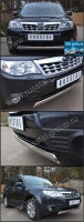 Защита переднего бампера d75x42 овал для Subaru Forester 2008- - Интернет магазин запчастей Volvo и Land Rover,  продажа запасных частей DISCOVERY, DEFENDER, RANGE ROVER, RANGE ROVER SPORT, FREELANDER, VOLVO XC90, VOLVO S60, VOLVO XC70, Volvo S40 в Екатеринбурге.