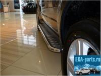 Пороги с площадкой ?42 для Subaru Forester 2009 - Интернет магазин запчастей Volvo и Land Rover,  продажа запасных частей DISCOVERY, DEFENDER, RANGE ROVER, RANGE ROVER SPORT, FREELANDER, VOLVO XC90, VOLVO S60, VOLVO XC70, Volvo S40 в Екатеринбурге.