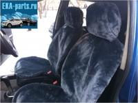 """Комплект накидок универсальных на передние сиденья авто из искусственного меха (2 шт + 2 подголовника) """"Серый  мутон"""" - Интернет магазин запчастей Volvo и Land Rover,  продажа запасных частей DISCOVERY, DEFENDER, RANGE ROVER, RANGE ROVER SPORT, FREELANDER, VOLVO XC90, VOLVO S60, VOLVO XC70, Volvo S40 в Екатеринбурге."""