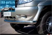 Защита переднего бампера d76 (дуга) для UAZ Patriot - Интернет магазин запчастей Volvo и Land Rover,  продажа запасных частей DISCOVERY, DEFENDER, RANGE ROVER, RANGE ROVER SPORT, FREELANDER, VOLVO XC90, VOLVO S60, VOLVO XC70, Volvo S40 в Екатеринбурге.