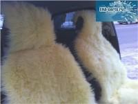 """Комплект из двух накидок из искусственного меха """"под овчину"""" желтого цвета (в желтенькую машинку!)  - Интернет магазин запчастей Volvo и Land Rover,  продажа запасных частей DISCOVERY, DEFENDER, RANGE ROVER, RANGE ROVER SPORT, FREELANDER, VOLVO XC90, VOLVO S60, VOLVO XC70, Volvo S40 в Екатеринбурге."""