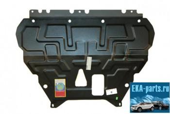 Защита картера Ford Focus  3  2011-, Grand C-Max 2010 - ,  штампованная сталь 2мм, с  ребрами жесткости с шагом 100 мм по всей площади. - Интернет магазин запчастей Volvo и Land Rover,  продажа запасных частей DISCOVERY, DEFENDER, RANGE ROVER, RANGE ROVER SPORT, FREELANDER, VOLVO XC90, VOLVO S60, VOLVO XC70, Volvo S40 в Екатеринбурге.